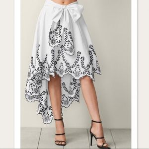 Gorgeous Black and White High-low Skirt Size 8